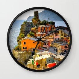 Italy Photography - Manarola By The Sea Wall Clock