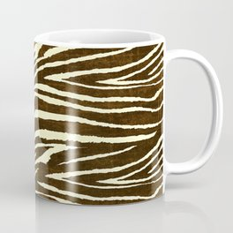 Animal Print Zebra in Winter Brown and Beige Coffee Mug