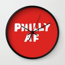 Philly AF (Red) Wall Clock