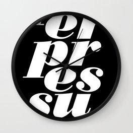 peerpressure | dark Wall Clock