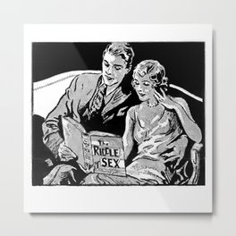 Valentine's Day Riddle of Sex couple Metal Print