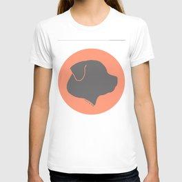 ROTTWEILER GREY ON PEACH T-shirt