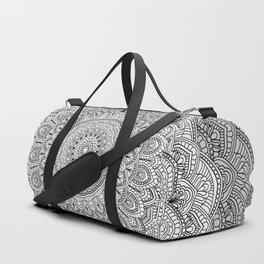 Black and white Lace mandala light Duffle Bag