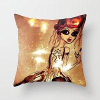 sassy Throw Pillows featuring Sassy by Sanoe Watt