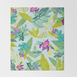 Tropical Retreat Throw Blanket