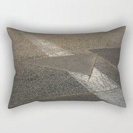 concrete sunshine triangle arrow Rectangular Pillow