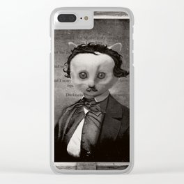 Edgar Allan Purr - Nevermeow Clear iPhone Case