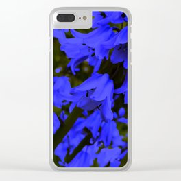 Blue Bliss Clear iPhone Case