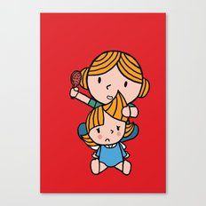 mom & daughter Canvas Print