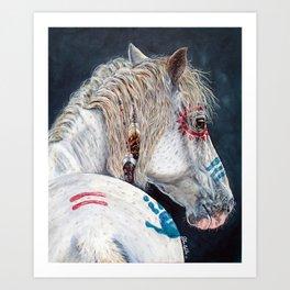 Native American Indian pony Art Print