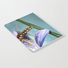 Wasp on flower 11 Notebook