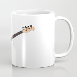 Bass guitar in cherry-colored wood on a white background Coffee Mug
