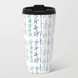 Hh Pattern by Ezra Travel Mug