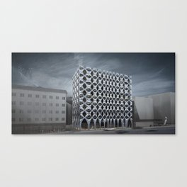 Bolzano administrative building Canvas Print