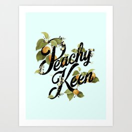 Peachy Keen : Mint Art Print