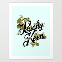 Peachy Keen : Mint Art Print