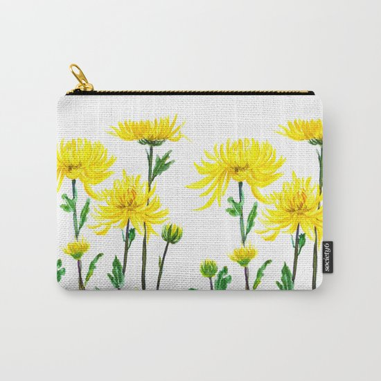 yellow chrysanthemum Carry-All Pouch