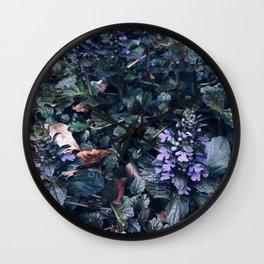 Proud Little Purple Flowers Wall Clock