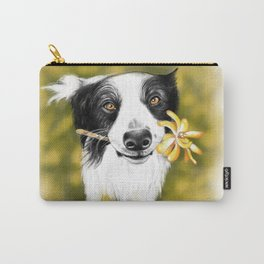 Cute Border Collie Carry-All Pouch