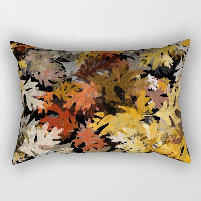 Oak Leaf Abstract Rectangular Pillow