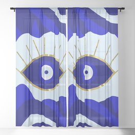 Lava All Seeing Evil Eye Sheer Curtain