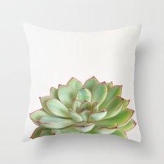 Green Succulent Throw Pillow
