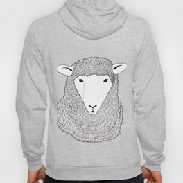 Sheep black and white illustration Hoody