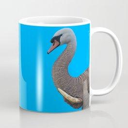 Elephant Trunk Swan Coffee Mug