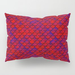 Red Purple Scales Pillow Sham