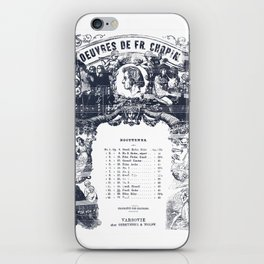 Frederick Chopin Nocturne art iPhone Skin
