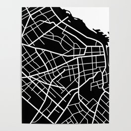 Buenos Aires, Argentina - Black Map Poster