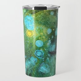 Green Nebula Splatter Travel Mug