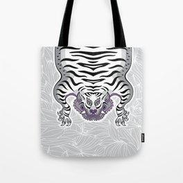 TIBETAN TIGER - WHITE (white) Tote Bag