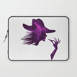 DIVA WITH HAT and Lipstick - PAINTED - Gorgeous VIOLET Laptop Sleeve