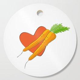 Carrot Heart Cutting Board