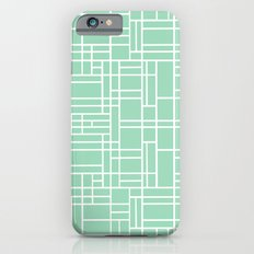 Map Outline Mint iPhone 6s Slim Case