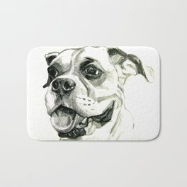 Smiling Boxer Boy Oscar Bath Mat