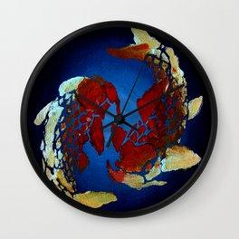 Pisces Coy Fish Wall Clock