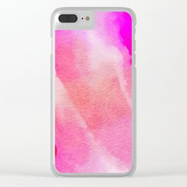 Paper-pink,red and blue Clear iPhone Case