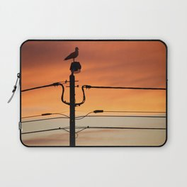 Seagull contemplating sunset Laptop Sleeve
