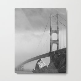 Foggy Golden Gate Bridge Metal Print