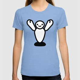 Happy White Inflatable Robot T-shirt