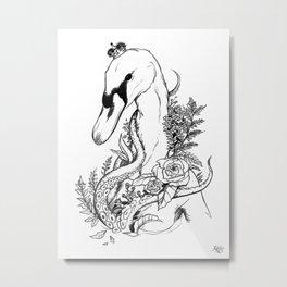 Swan Queen Metal Print