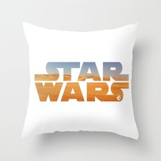 The Desert Planet of Jakku Throw Pillow