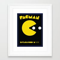 pac man Framed Art Prints featuring pac-man by CJones5105