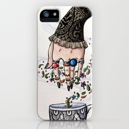Tea Leaves and Lace iPhone Case