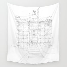 Construction of Christ the Redeemer (1922-1931) Wall Tapestry