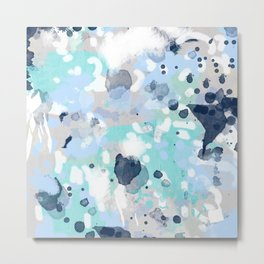 Riley - abstract gender neutral nursery home office dorm decor art abstract painting Metal Print