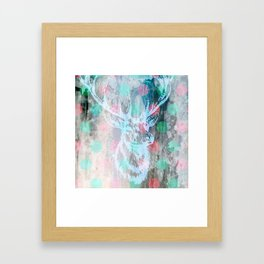 DEER + KARLA Framed Art Print