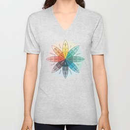 Plutchik's Wheel Of Emotions Unisex V-Neck
